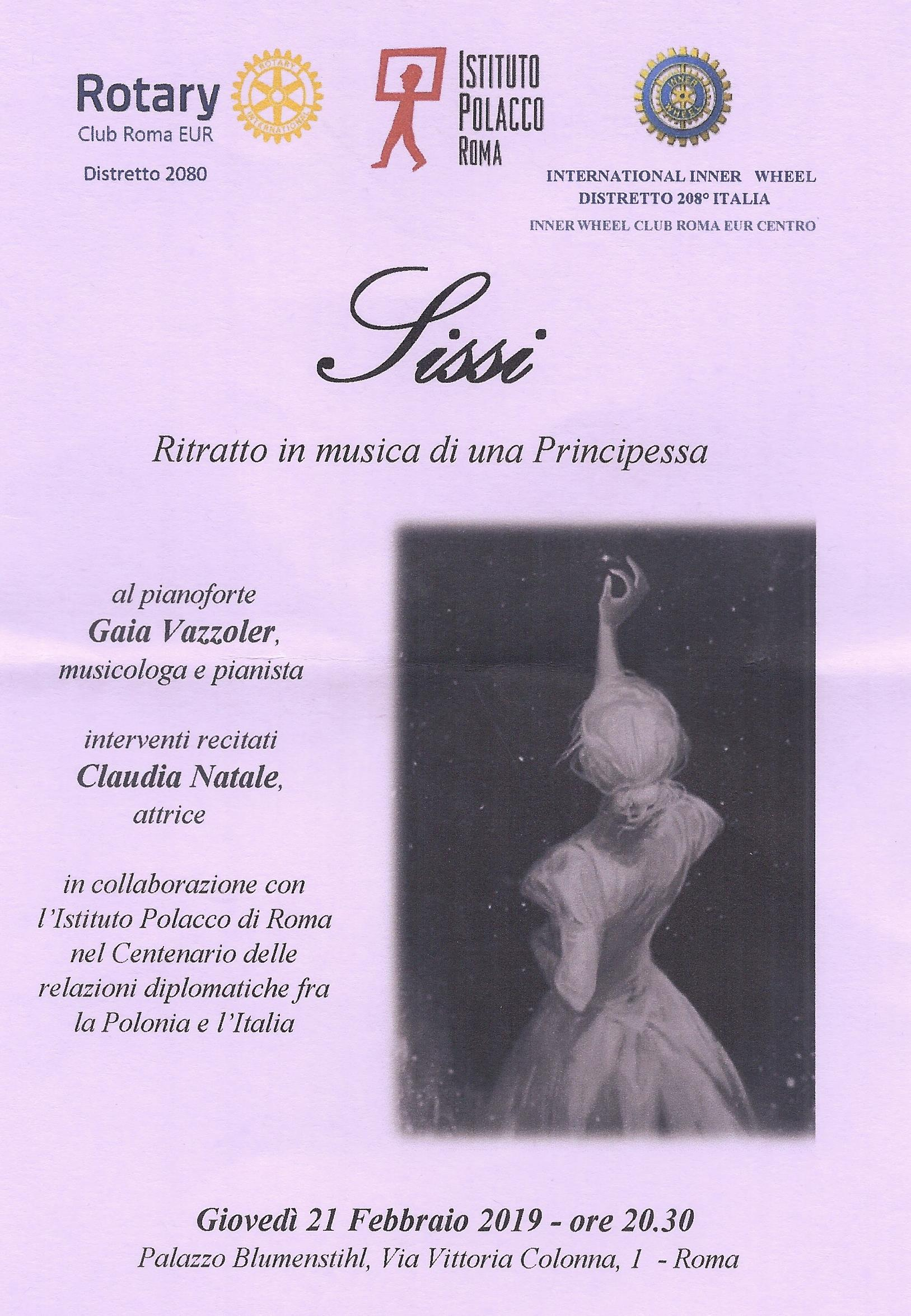SISSI – Ritratto in musica di una Principessa. - Rotary Roma Eur b5edf902efdf